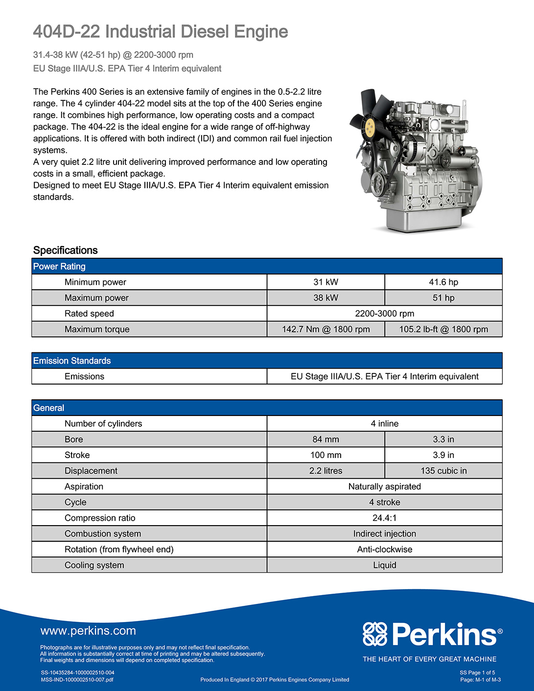404D-22 Industrial Diesel Engine_SIME DARBY ELCO POWER SYSTEMS LIMITED